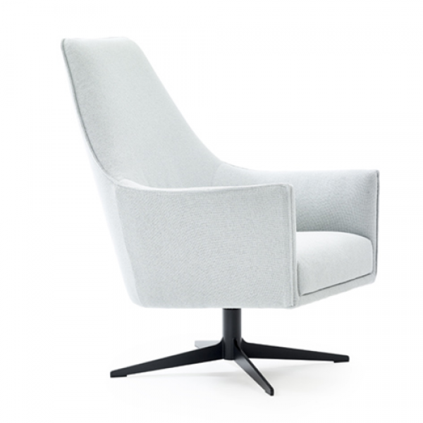 Ell chair with high backrest