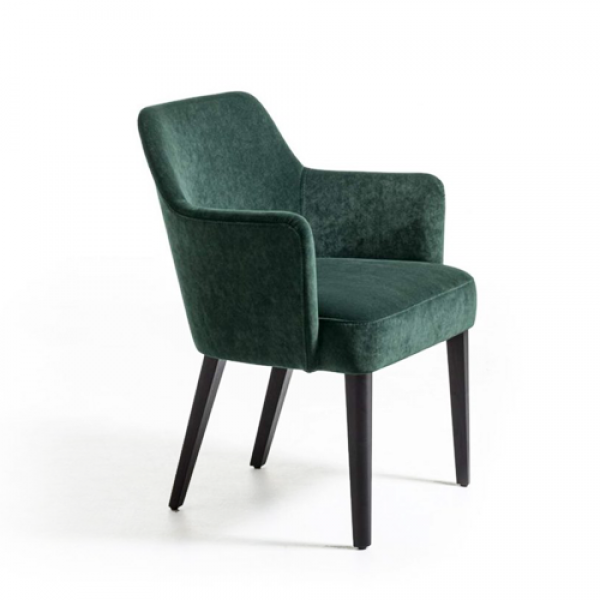 Velour easy armchair