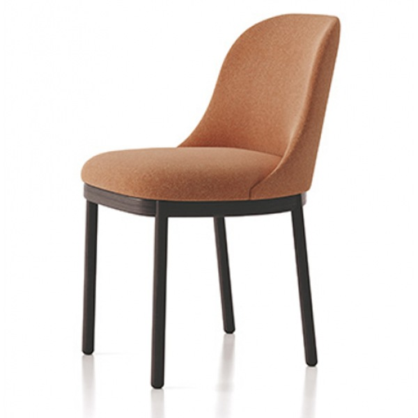 Aleta Chair with wood base